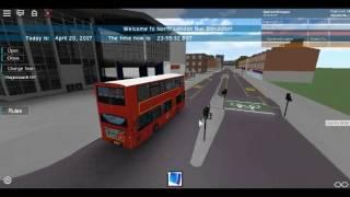 Roblox North London bus Simulator Wright Pulsar Gemini DAF DB300 Using Route 243 Test