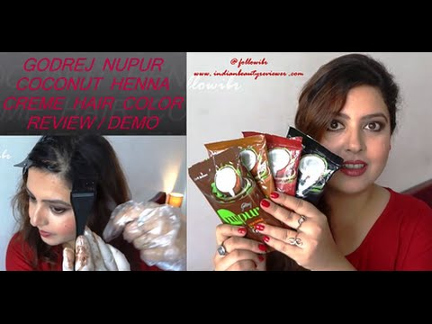Godrej Nupur Coconut Henna Creme Hair Color Review Youtube