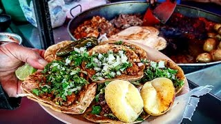 SUPER TASTY, JUICY, DELICIOUS!!! STREET TACOS IN MEXICO!! MIND BLOWING FLAVOUR!!!