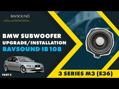 hqdefault bavsound bmw subwoofer install bsw ib108, 3 series, m3 e36 x e36 amp wiring diagram at cos-gaming.co