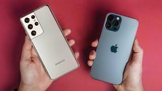 Galaxy S21 Ultra vs. iPhone 12 Pro Max: Spec Comparison