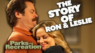 The STORY OF Ron Swanson & Leslie Knope | Parks and Recreation | Comedy Bites