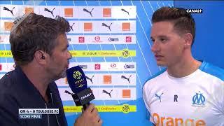 La réaction de Florian Thauvin après Marseille VS Toulouse 4-0