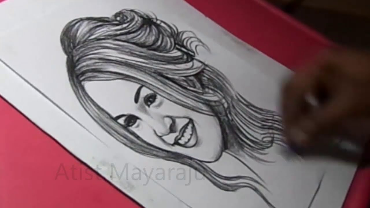 How to Draw Women Face Drawing / Portrait Of A Women / Pencil Portrait Drawing