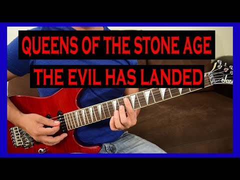 Guitar Lesson - Queens of the Stone Age - The Evil has Landed