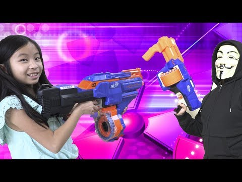 Game Master Attacks with Machine Gun while FunTV Kids Play NEW POWER WHEELS (EP 11)