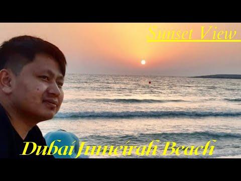 Dubai Jumeirah Beach 4k Tour || Sunset View || Jumeirah Public Beach Dubai Vlog 2021🔥