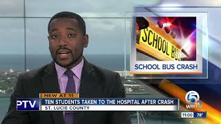 St. Lucie County school bus crash sends 10 students to hospital
