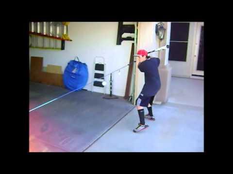 Baseball Swing Line batting training aid - YouTube