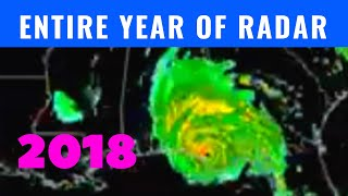 Entire Year Of Weather Radar  2018 U.s. Time Lapse