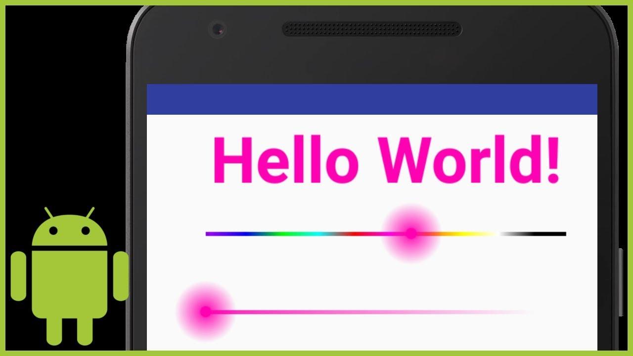 ColorSeekBar - Coding in Flow