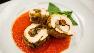 Recipe Rehab Season 1 Recipe How-To: Stuffed Turkey Breast With Roasted Red Pepper Sauce
