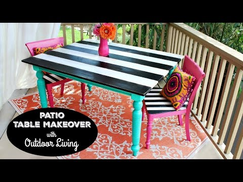 HOW TO: Patio Table Makeover