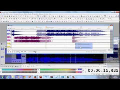 Sound Forge muilti-pista, uma maneira facil e rapido de usar o multipista do forge 11