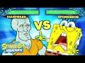 SpongeBob and Squidward Face Off in Battle! 🥊 SpongeBob SquareOff