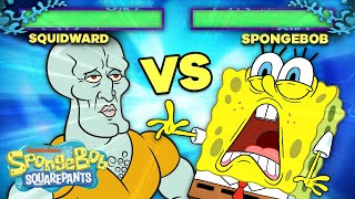 SpongeBob and Squidward Face Off in Battle!  SpongeBob SquareOff
