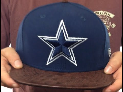Cowboys 'STAR-VIZE' Navy-Brown Fitted Hat by New Era