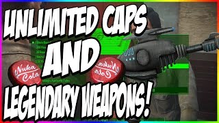 FALLOUT 4 UNLIMITED INFINITE CAPS Money Unlimited LEGENDARY Weapons Fallout 4 Glitch