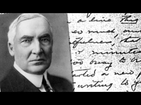 Harding's salacious love letters to be released