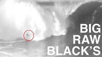 BIG RAW BLACK'S (nude beach, raw footage of surfing)