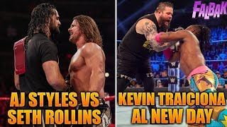 Styles vs Rollins MITB & Kevin TRAICIONA Kofi   RAW y SDLive 22-23 Abril 2019