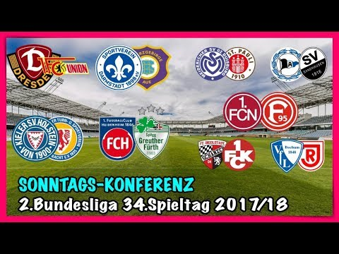 2.Bundesliga 34.Spieltag - Die große Konferenz (Alle 9 Spiele) - FIFA Prognose 2017/18 Deutsch (HD)