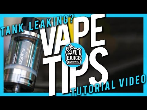 Why do tanks leak & How to prevent it | Vape Tips | NO.1 EJUICE