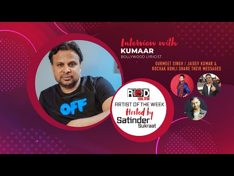Bollywood Lyricist Kumaar Joins Red Fm's Host Satinder Sukraat & Shared His Success Story.