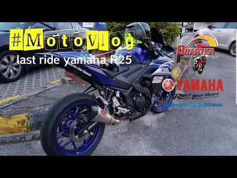#Motovlog | last ride yamaha R25