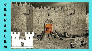 The gates of the walls of the  Old City of Jerusalem