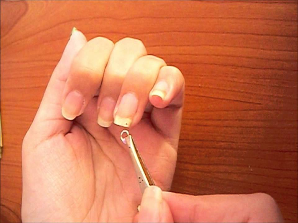 Nail Piercing-How to!! - YouTube