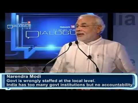 Shri Narendra Modi addressing Network 18 Think India Dialogue
