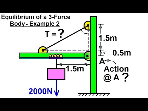 Mechanical Engineering: Equilibrium of Rigid Bodies (18 of 30) Ex. 2 Eq. of 3-Force Body