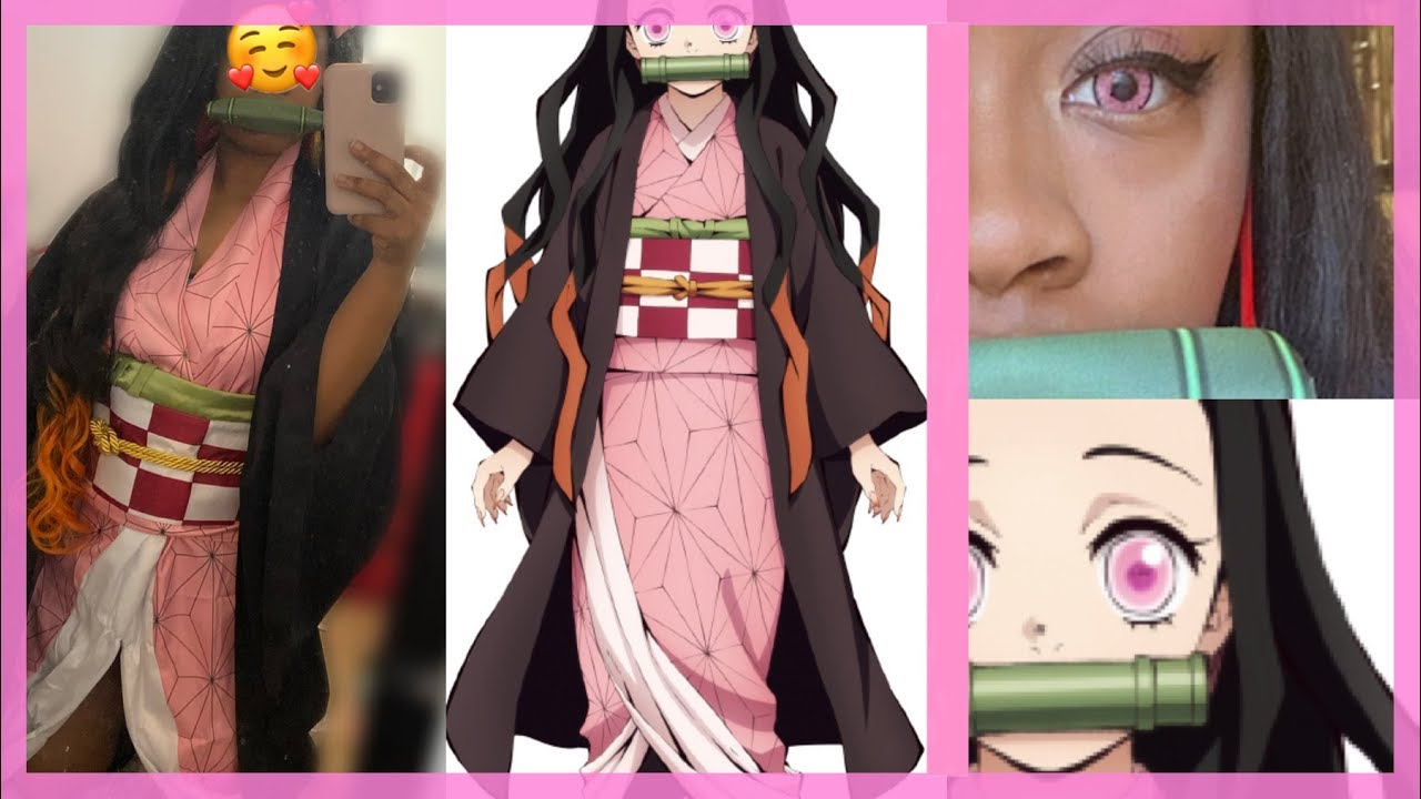 Nezuko Contacts And Cosplay Unboxing - YouTube