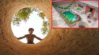 How To Build Amazing Mansion Swimming Pool Underground, Groundwater & Secret Underground House