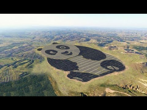 China wants to build 100 panda-shaped solar power plants around the world