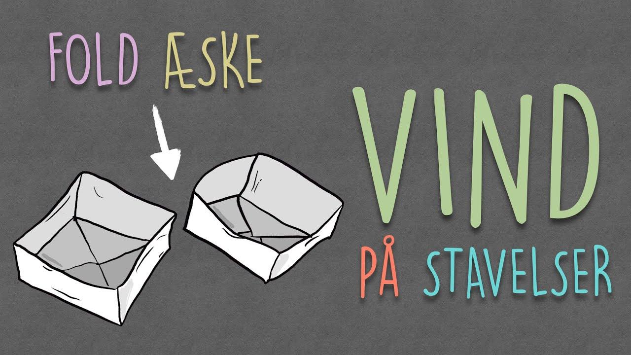 Fold en flot æske og øv stavelser