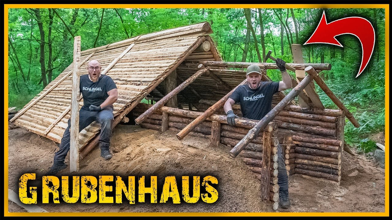 Grubenhaus - Eingang einmal komplett neu - Bushcraft Camp Shelter Survival