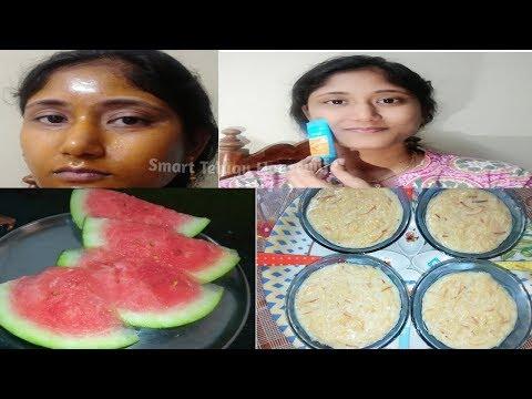 Indian mom Sunday evening routine payasam with peeloff mask skin care inTelugu SmartTeluguHousewife
