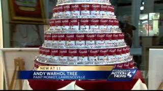 Soup-can Christmas tree is nod to Andy Warhol