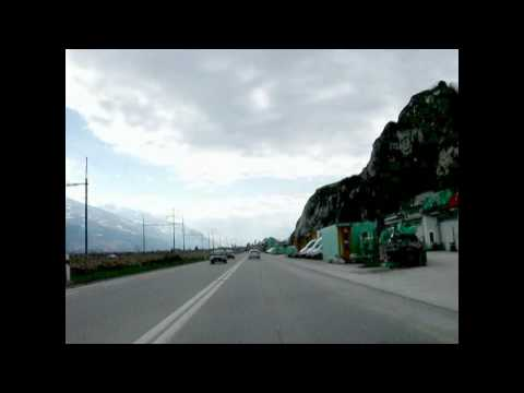Switzerland 76 (Camera on board) Sierre (VS) to Sion [HD]