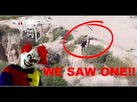 HUNTING KILLER CLOWNS WITH A DRONE! WE SAW ONE!! (NOT CLICKBAIT)