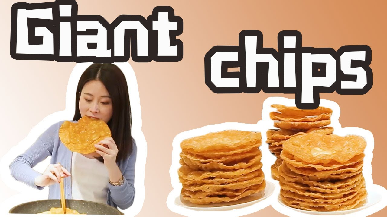 Homemade Creative Snacks: Make giant potato chips with a bucket on the table | Ms Yeah
