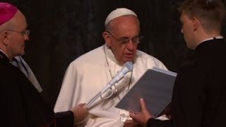 Raw: Pope Leads Prayers at Ground Zero