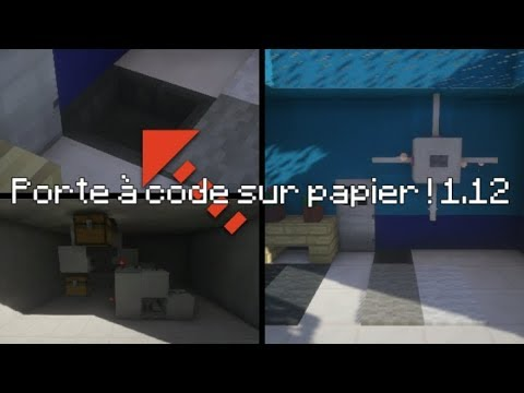 comment faire une porte code sur papier minecraft youtube. Black Bedroom Furniture Sets. Home Design Ideas