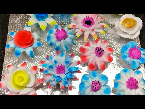 Top Amazing Whipped Cream Flowers Tutorial | Making By Sunil Cake Master Fancy Flowers Decoration