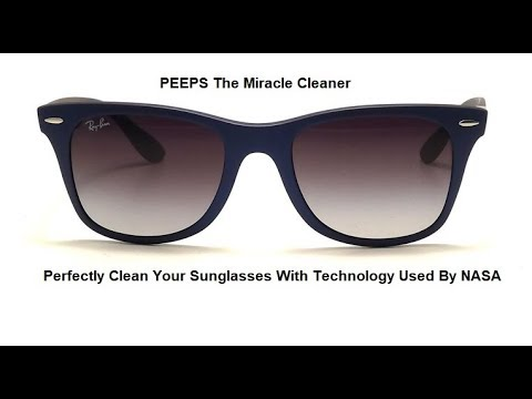 VR13616 - How  To Perfectly Clean Your Sunglasses With a Scientific application Used By NASA