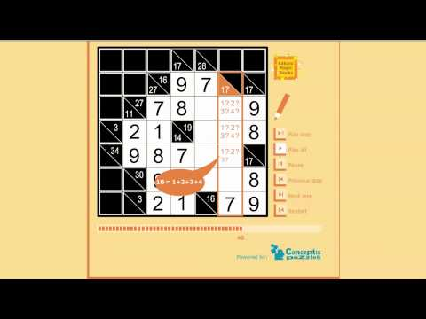 photo relating to Cross Sums Printable identify Guidelines and rationale of our absolutely free printable Kakuro, Cross