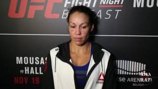 Marion Reneau UFC Fight Night Belfast Post Fight Media Scrum