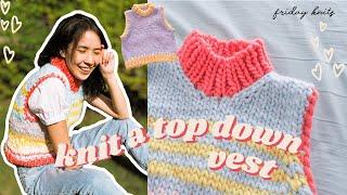 DIY Knit Retro Vest   How To Knit A Sweater Vest [Friday Vest Pattern]